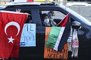 Warga Turki Gelar Protes Agresi Israel ke Palestina