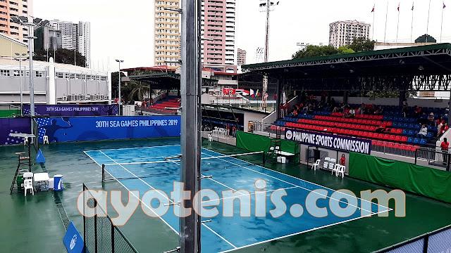 Tenis SEA Games: Hujan Tunda Perburuan Medali Tenis