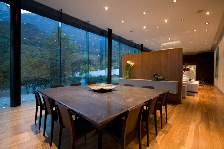 Dining room of Modern contemporary CT House in Mexico