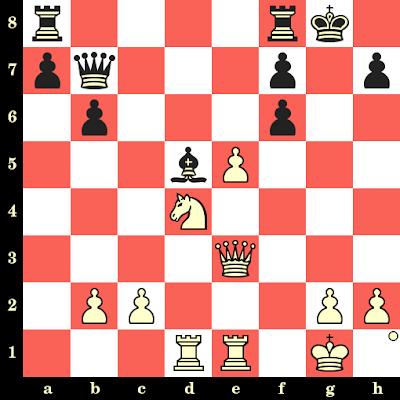 Les Blancs jouent et matent en 4 coups - Magnus Carlsen vs LakeMonster, Internet, 2014