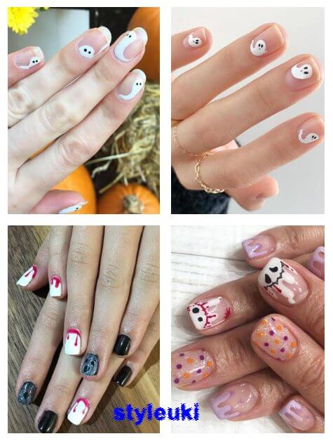 With Halloween Day finally here and on a Wednesday no much time 37+ Halloween Ghost Nail Art Ideas With Tips to DIY Ghost Manicures