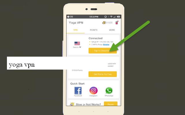 أولا تحميل تطبيق Yoga VPN