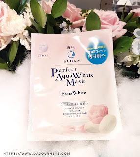 [Review] Senka Perfect Aqua White Mask Extra White