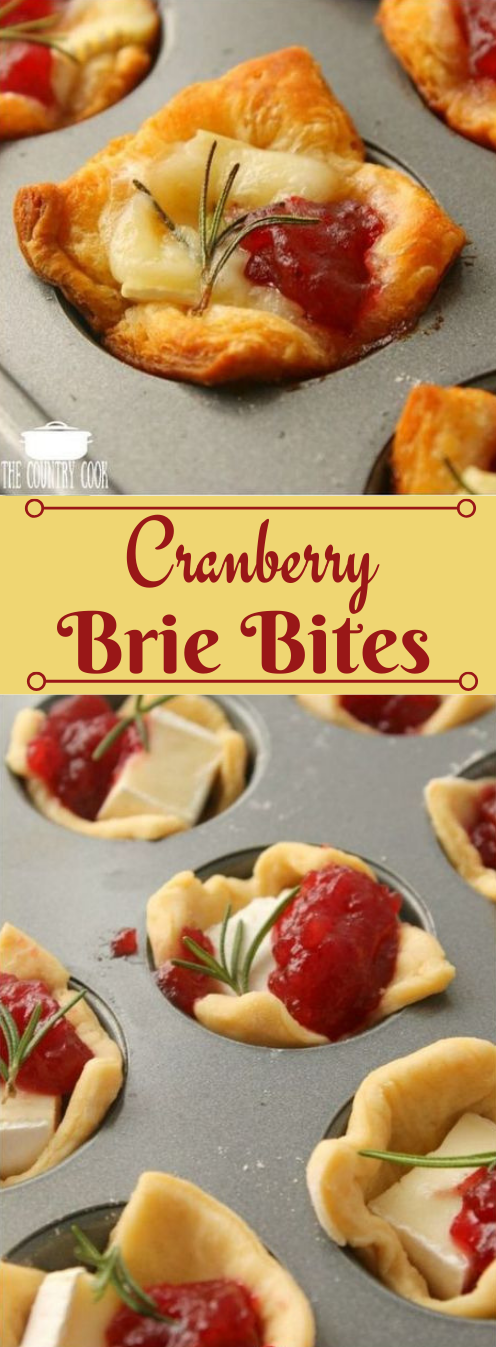 Cranberry Brie Bites #healthyrecipes #food #easy #cranberry #yummy