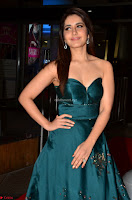 Raashi Khanna in Dark Green Sleeveless Strapless Deep neck Gown at 64th Jio Filmfare Awards South ~  Exclusive 003.JPG