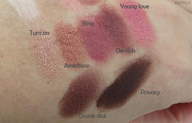 urban decay naked cherry revue swatchs