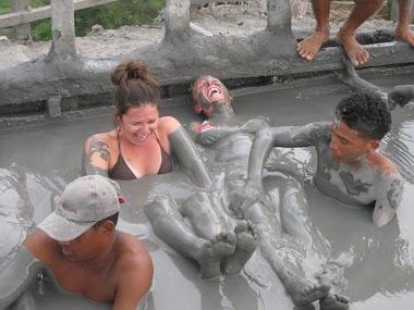 Mud Bath in Cartagena in Colombia