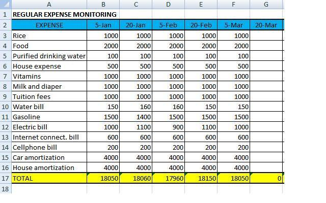 How To Manage My Peso Manage Your Money Step 6 Monitoring Your