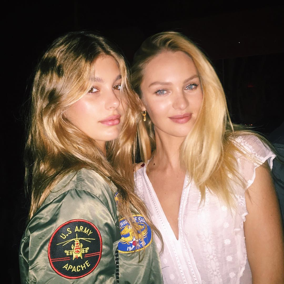 Camila Morrone with Candice Swanepoel.