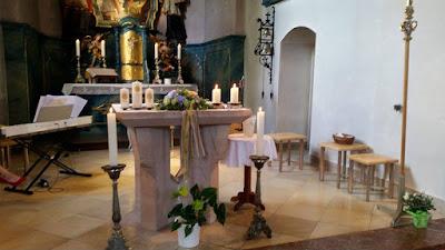 Catholic church Grainau - Birdcage vintage wedding - Irish wedding in Bavaria, Riessersee Hotel Garmisch-Partenkirchen, wedding venue abroad