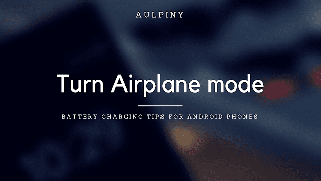 Turn Airplane mode