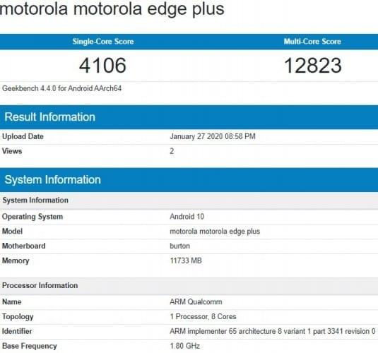 Lake reveals key features of the Motorola Edge Plus