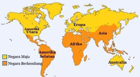 negara maju dan berkembang