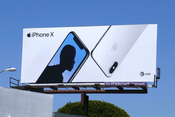 Apple iPhone X June 2018 billboard