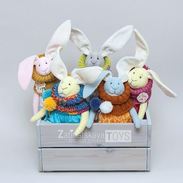 игрушки зайчики сделанные своими руками