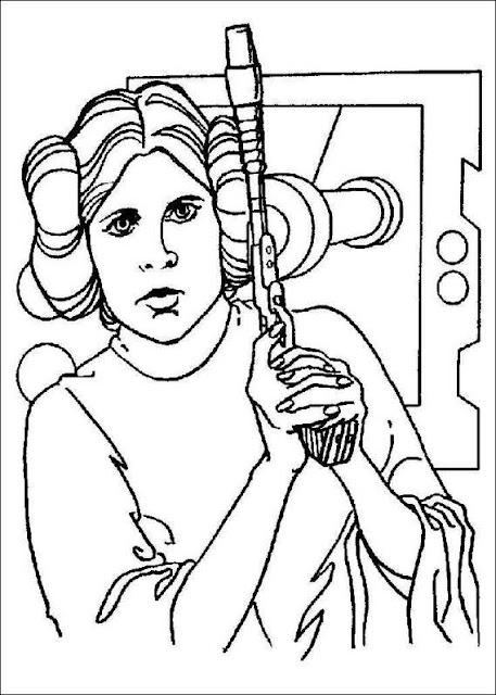 Звёздные войны принцесса раскраски Star Wars Princess Coloring