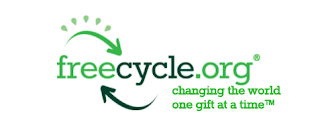 Canadian Senior Savings screenshot of Freecycle Banner image text reads- freecycle.org Changing the world one gift at a time