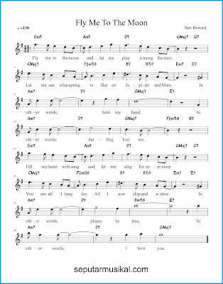 Fly Me to the Moon chords jazz standar