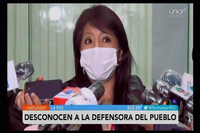 Gobierno acusa a Nadia Cruz de usurpar el cargo de Defensora del Pueblo; la desconocen