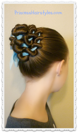 Ribbon Coiled Bun Hairstyle Tutorial Hairstyles For