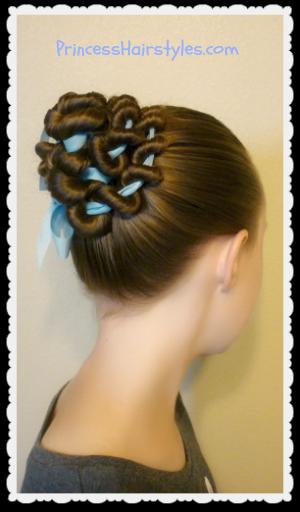 Fabulous Ribbon Coiled Bun Hairstyle Tutorial Hairstyles For Girls Hairstyles For Men Maxibearus