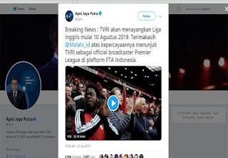 TVRI Resmi Mendapatkan Hak Siar Premier League 2019-2020