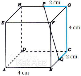 Cara menentukan jarak titik P dan Q dengan memperhatikan lintasan terdekatnya