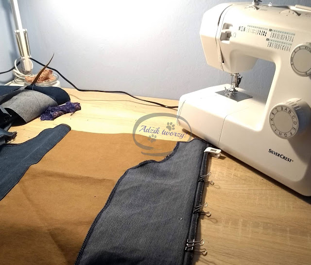 Adzik tworzy - kurtka jeansowa DIY jak uszyć