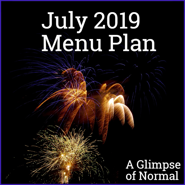 If you struggle to menu plan for a month, hop over to A Glimpse of Normal and check out what our menu plan is.