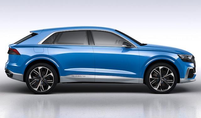 2017 Audi Q8 Concept blue