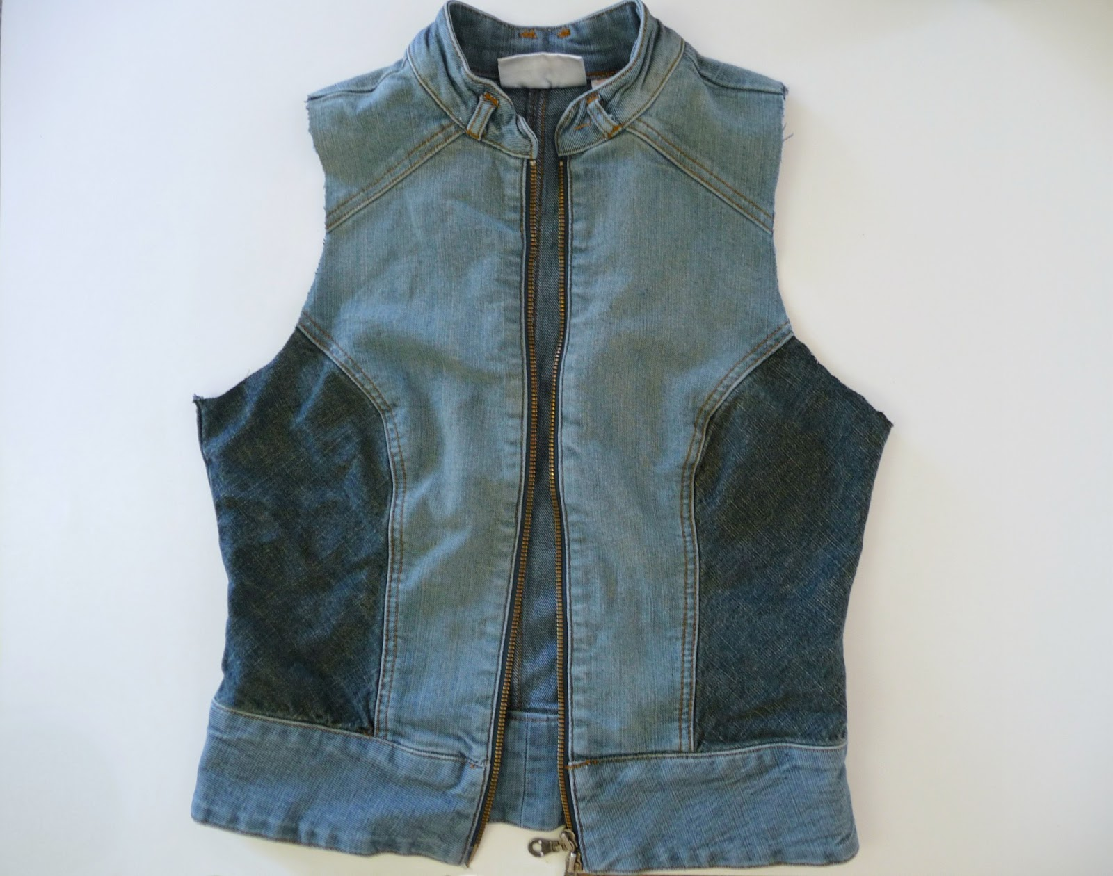 DIY denim vest refashion