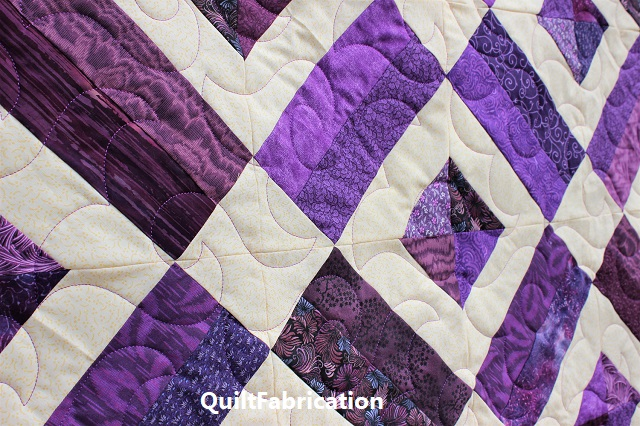 Brick Yard Quilt, Scrappy Version quilting
