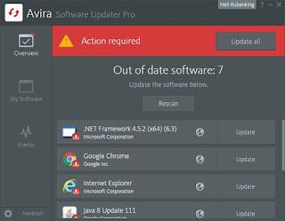 تحميل برنامج تحديث البرامج Avira Software Updater