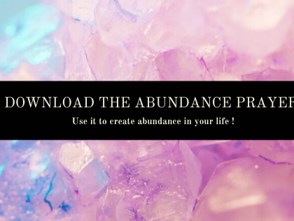 Free : Downloadable and Printable Abundance Prayer