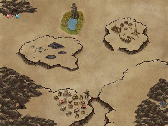 Seis mapas para tus partidas de rol - Desierto
