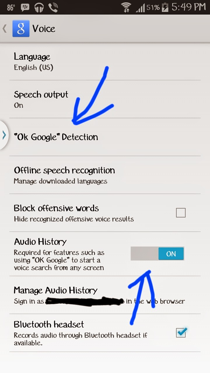 How to enable Google Now hot word