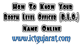 Know Your BLO Name Online - CEO Gujarat