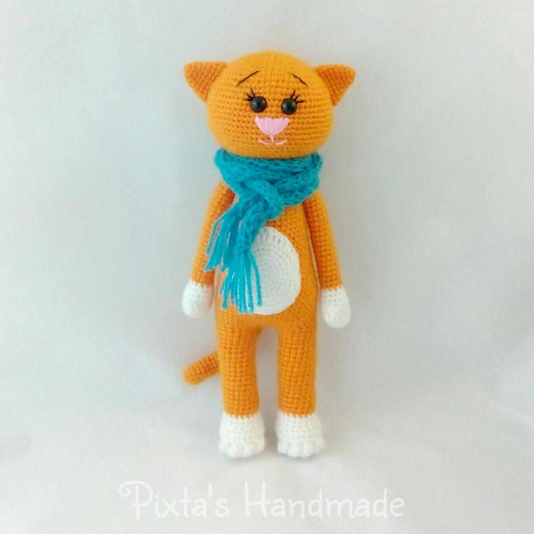 Leithygurumi: Pixtas Handmade - Amigurumi Orange Cat Free ...