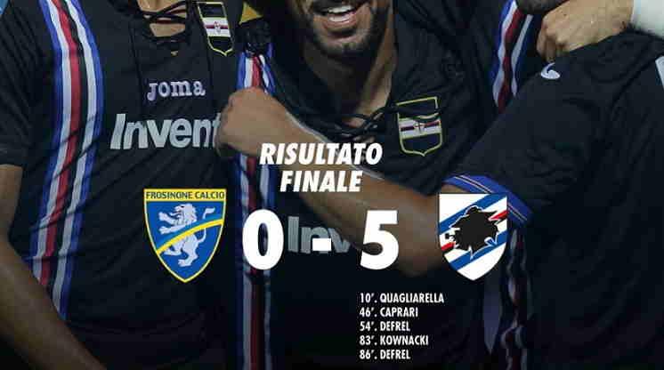 Hasil Frosinone vs Sampdoria Skor Akhir 0-5 [Serie A 2018]