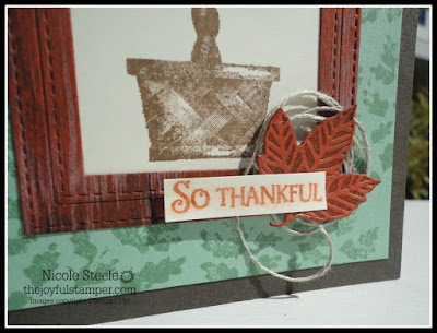 close-up of Faux Wood Technique on handmade cards using Stampin' Up!'s Beauty & Joy set