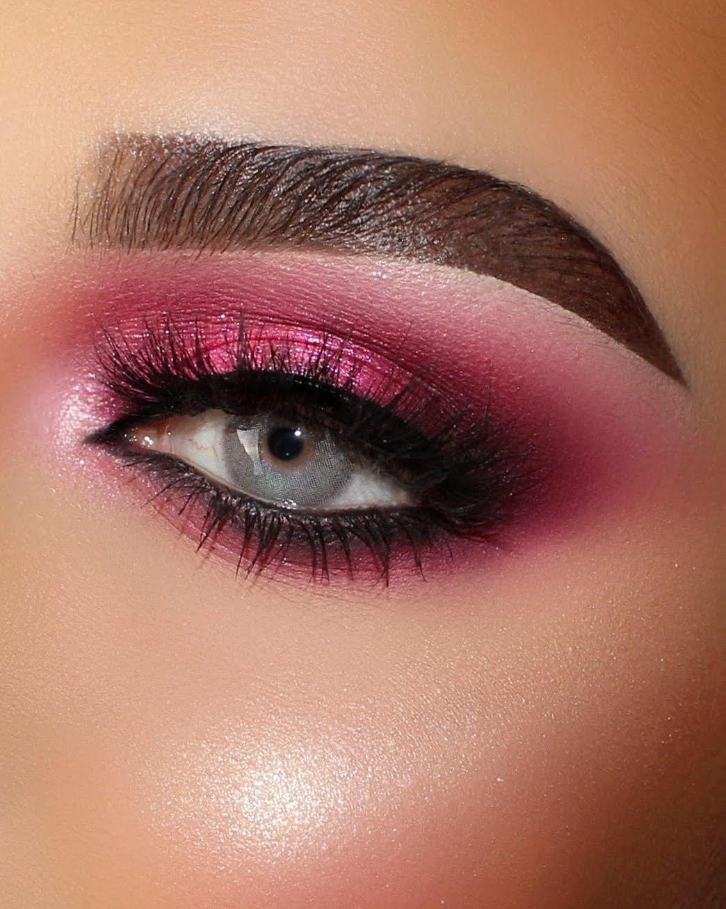 Maquiagem sombra rosa carnaval