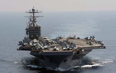 The aircraft carrier USS Abraham Lincoln
