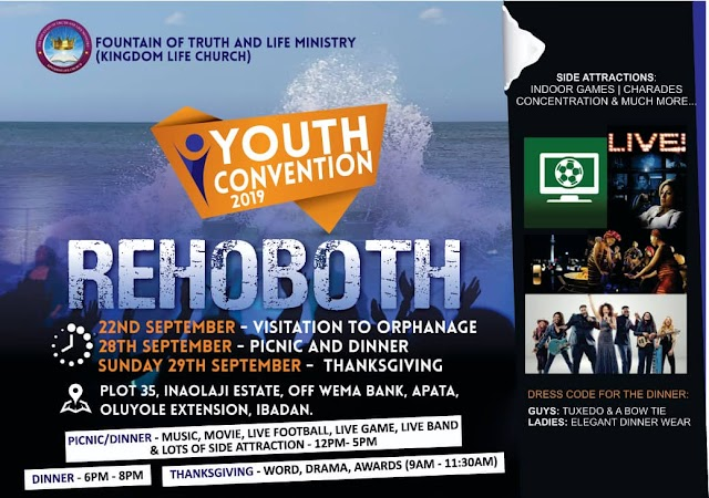 "EVENT: Kingdom Life Church Preps to Host Youth Convention 2019 edition tagged ""Rehoboth"""