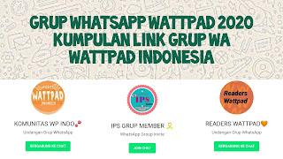 Grup Whatsapp Wattpad