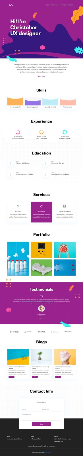 Best Personal Portfolio & Blog Template