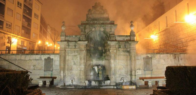 Fuente de abajo de As Burgas en la ciudad gallega de Ourense