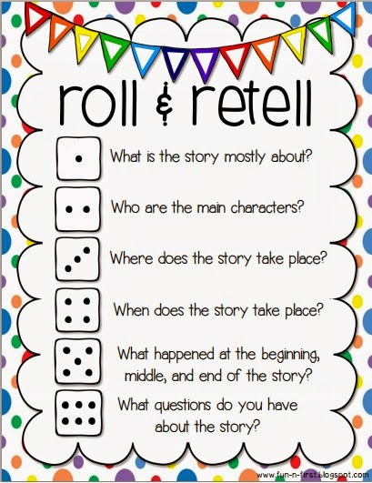 An Apple For The Teacher Roll And Retell Building