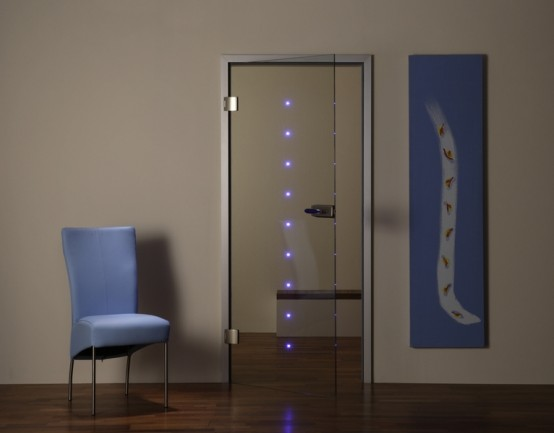 New home designs latest.: Glass interior door designs.