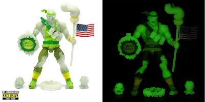 Entertainment Earth Exclusive Toxic Crusaders Glow in the Dark Toxie Deluxe Action Figure by Super7