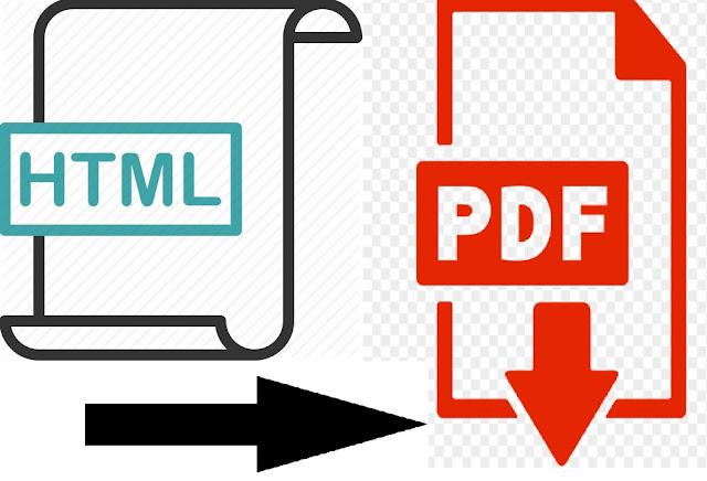 Cara Konversi Halaman Web HTML Menjadi PDF